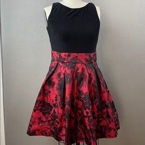 Lauren Ralph Lauren rose gothic fit & flare dress